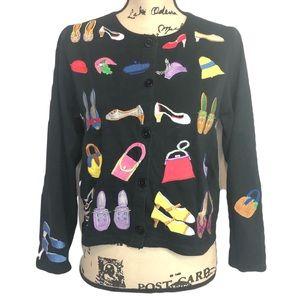 Michael Simon sz m shoes  purse black cardigan